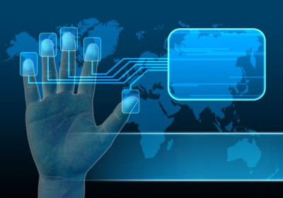 biometric sensor of five fingers