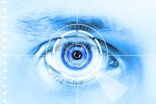 biometric iris scanners taking picture of an eye