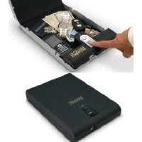 a small biometric cash safe