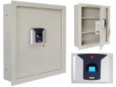 a small biometric wall safe